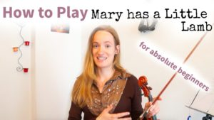 Free Online Violin Lesson 1 - Mary had a Little Lamb