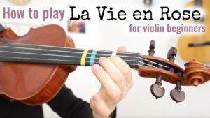 Free Online Violin Lesson la Vie En Rose