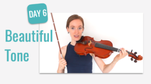 beginners course beautiful tone violin lesson