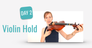 learn violin hold