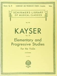 36 Violin Studies by Heinrich Ernst Kayser