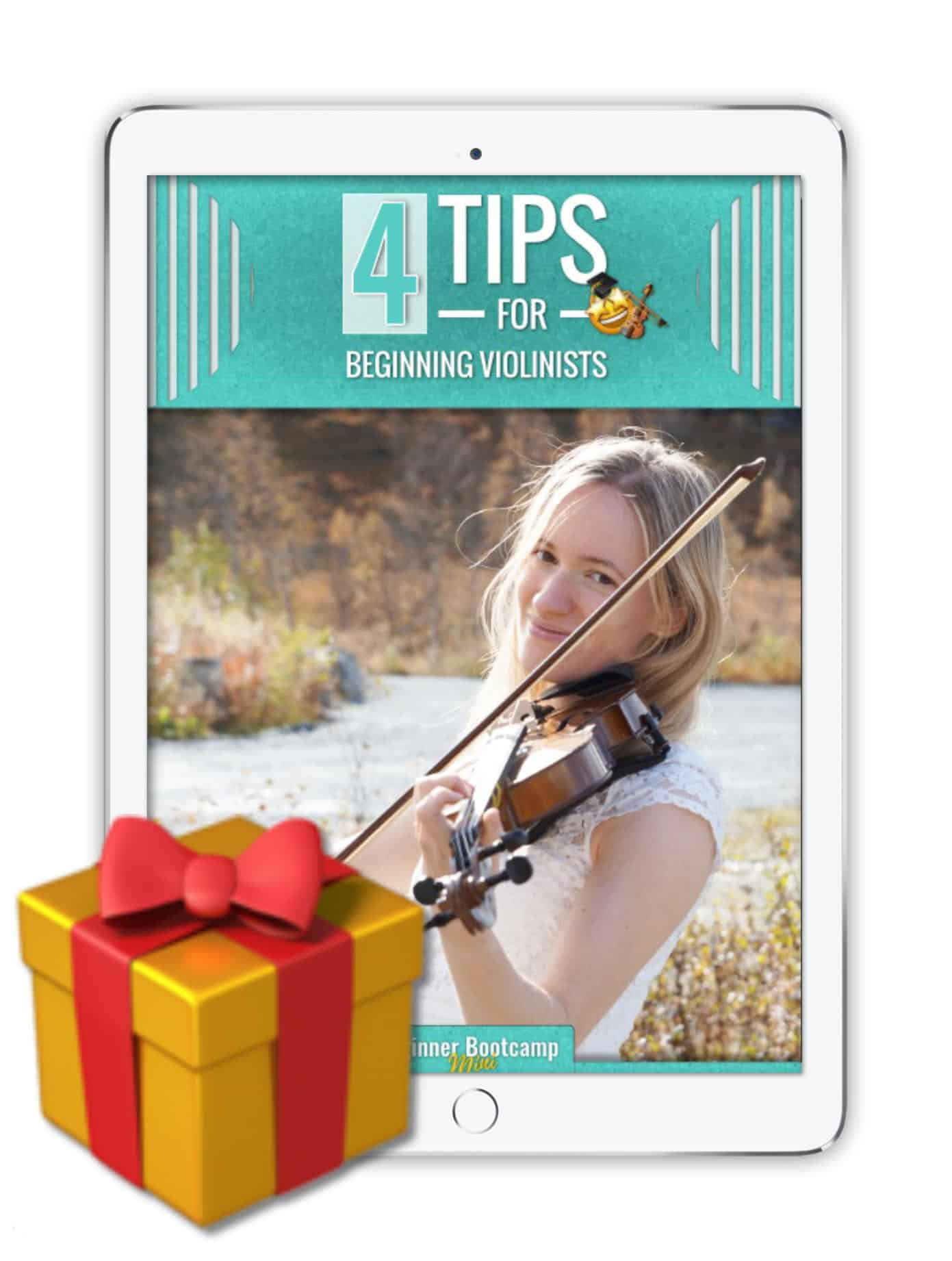 4 Tips for beginning violinists [pdf]