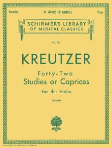 42 Studies or Caprices by Rodolphe Kreutzer