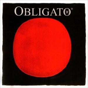 Obligato 4/4 Violin String Set – Medium Gauge – with Gold Ball-end E & Silver D