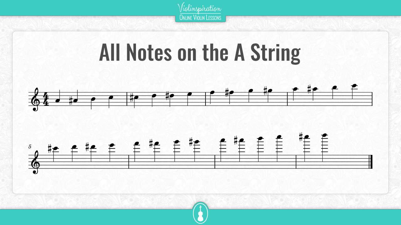 All Notes on the A String