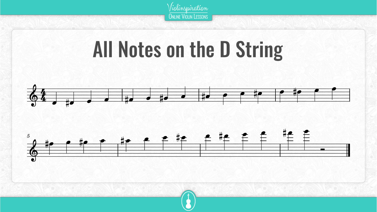 All Notes on the D String