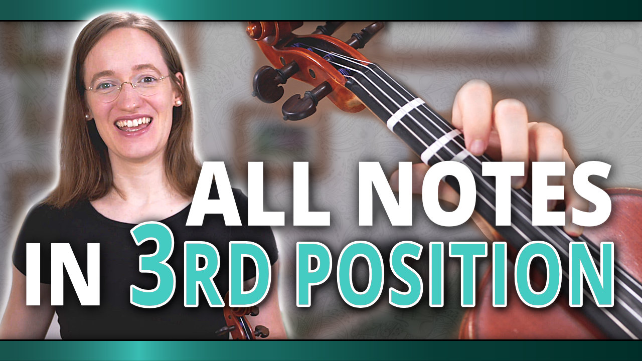 All Violin Notes in Third Position