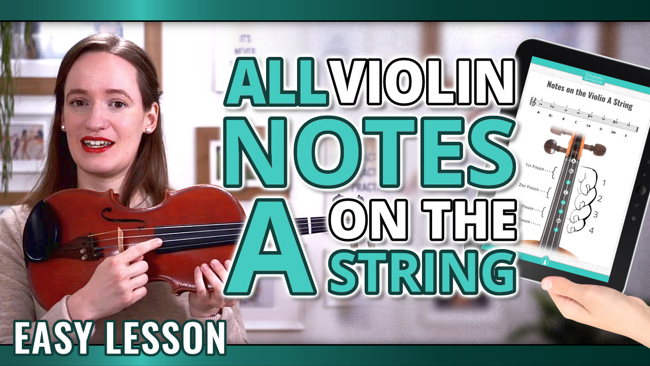 All Violin Notes on the A String for Beginners – Easy Violin Lesson