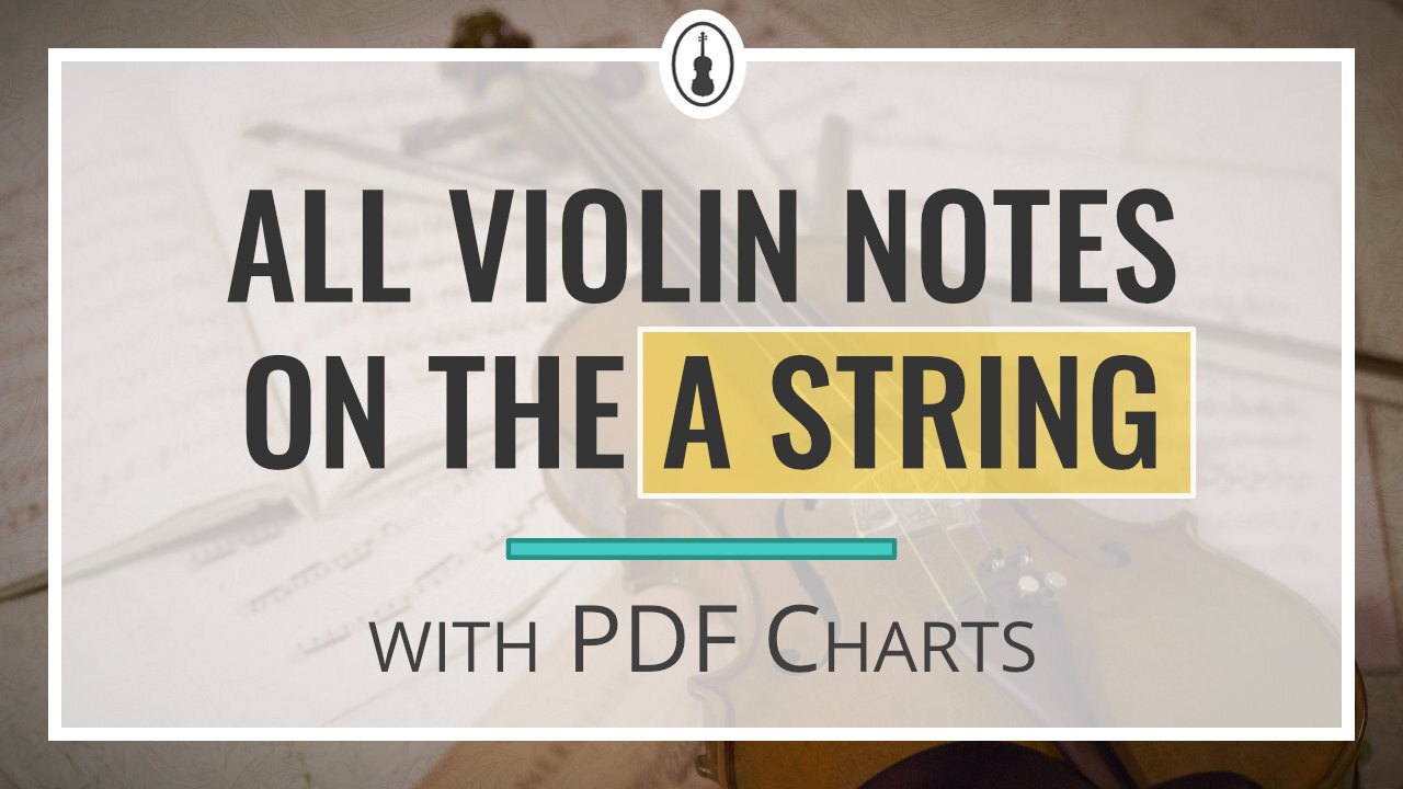 All Violin Notes on the A String