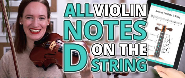 All Violin Notes on the D String for Beginners - Easy Violin Lesson