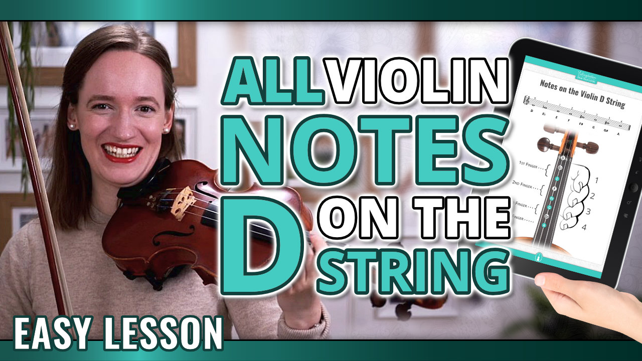 All Violin Notes on the D String for Beginners – Easy Violin Lesson