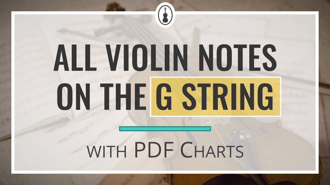 All Violin Notes on the G String