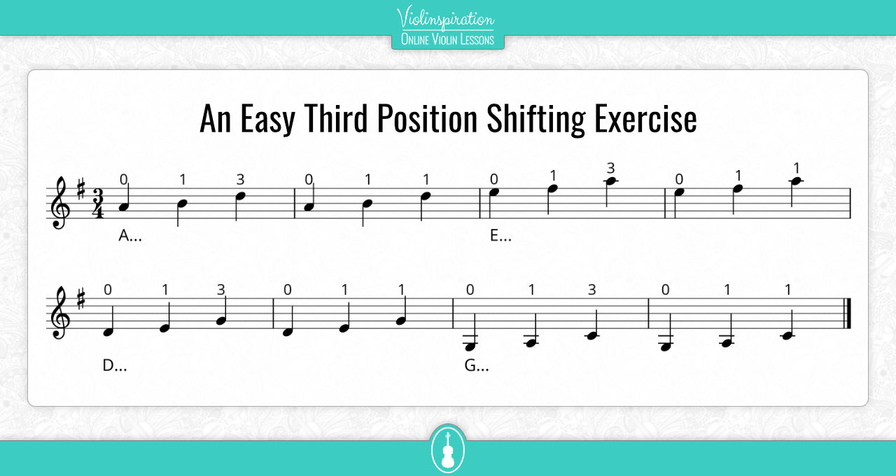 An Easy Third Position Shifting Exercise