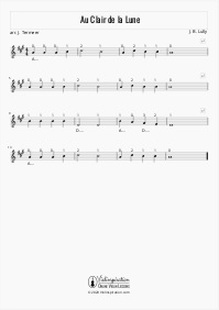 Au Clair de la Lune - Violin Sheet Music Tutorial