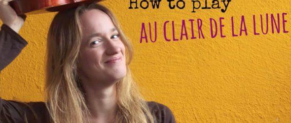 Au clair de la Lune (how to play) - Easy beginners song - Violin tutorial - Violin Lesson