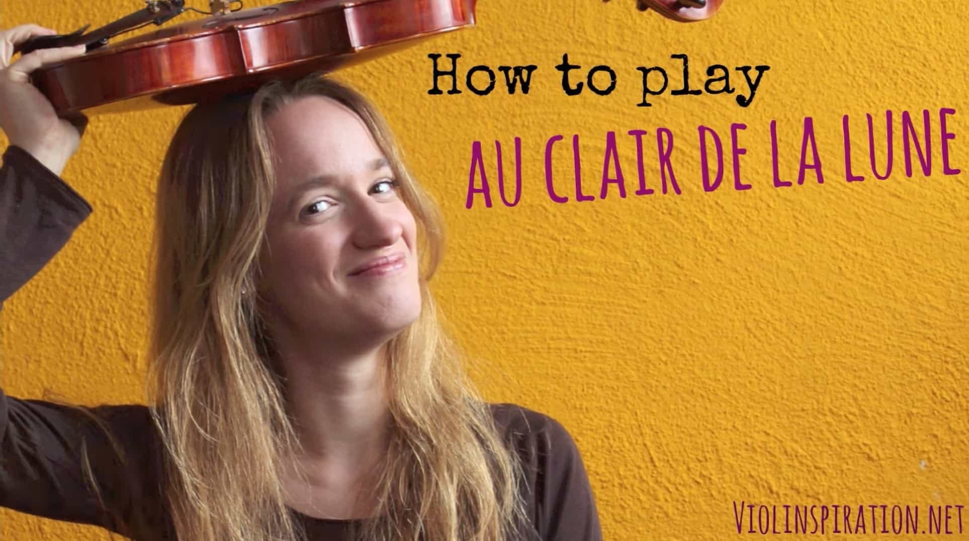 Au clair de la Lune (how to play) – Easy beginners song – Violin tutorial