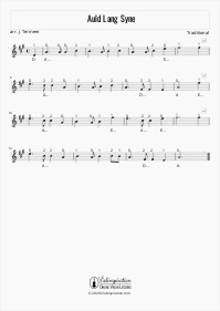 Auld Lang Syne - Violin Sheet Music Tutorial