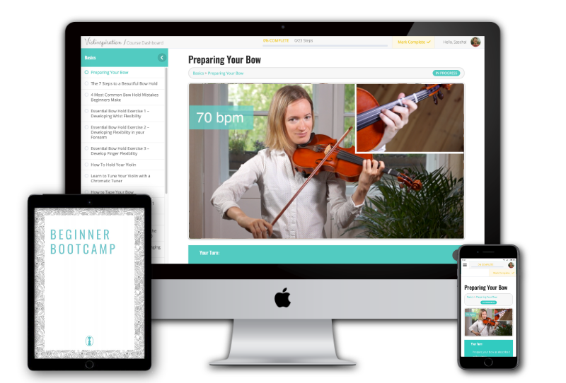 Beginner Bootcamp - Violin Online Program for Adult Beginners