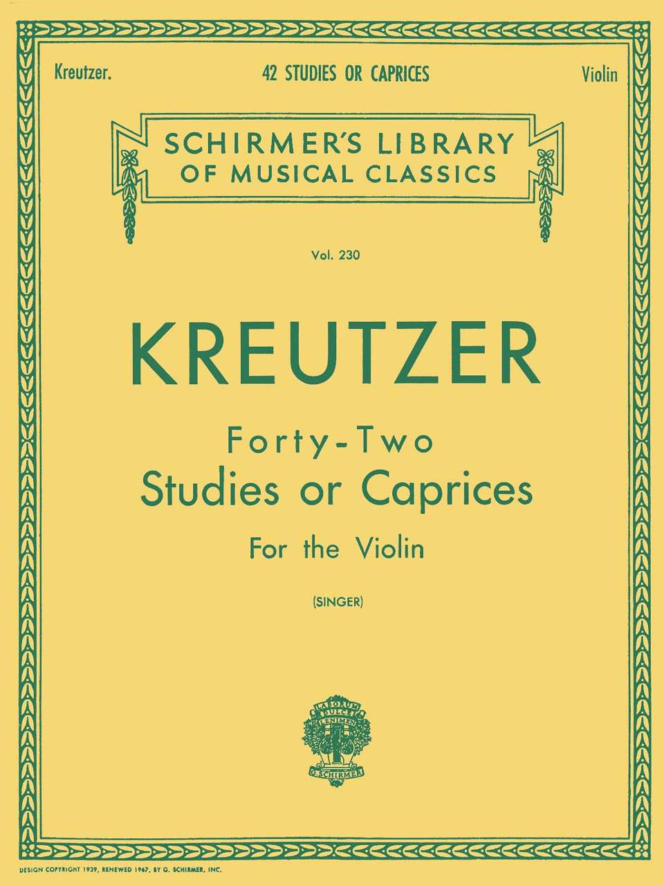Best Violin Books - 42 Studies or Caprices by Rodolphe Kreutzer