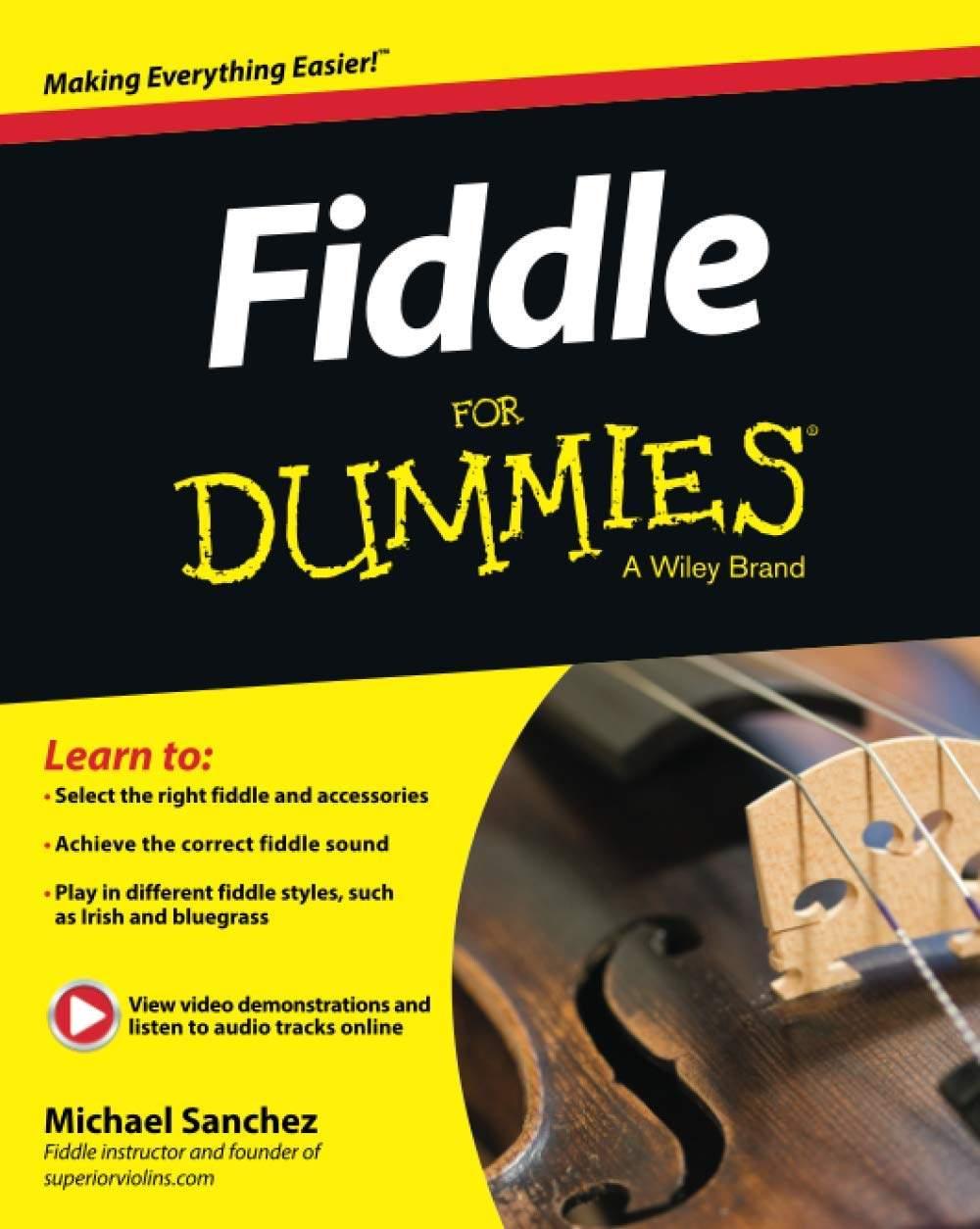 Best Violin Books - Fiddling for Dummies by Michael Sanchez