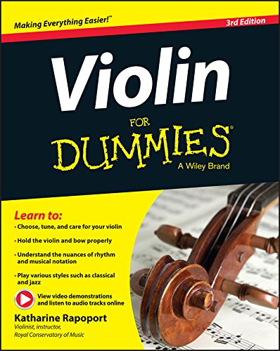 Best Violin Books - Violin For Dummies + Online Video and Audio Instruction by Katharine Rapoport