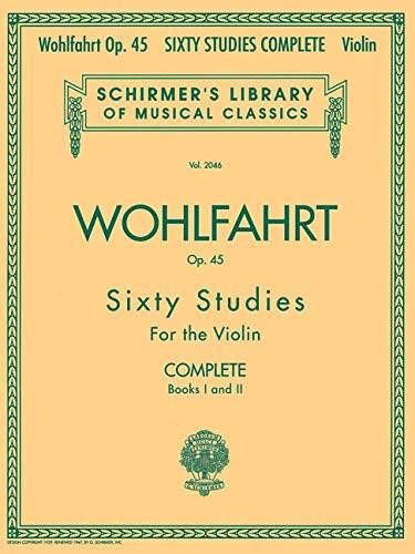 Best Violin Books - Wohlfahrt Op. 45 Sixty Studies for the Violin - Book 1