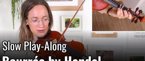 Violin Lesson - Bourrée by G. F. Handel - Suzuki Violin Book 2