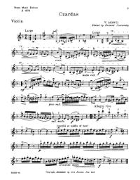 Czardas - V. Monti - violin sheet music