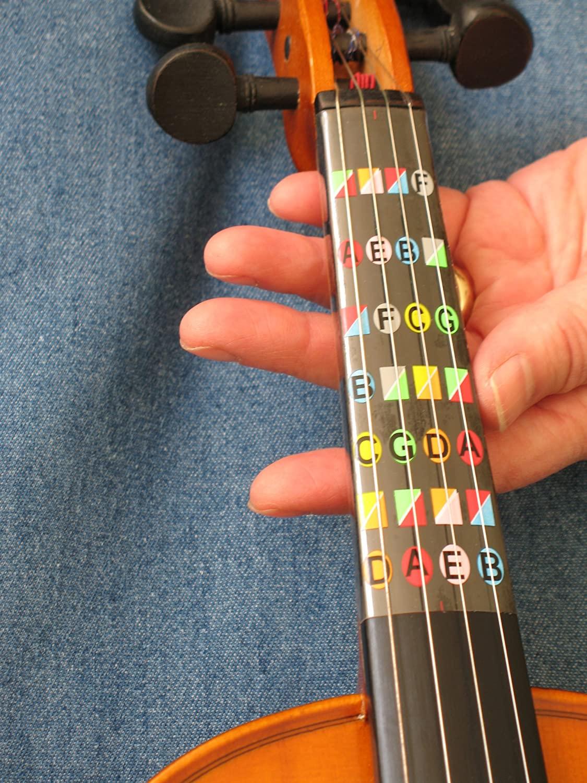 DIY Violin Fingering Tape (Cheap & Easy) - Example of Fretless Finger Guides