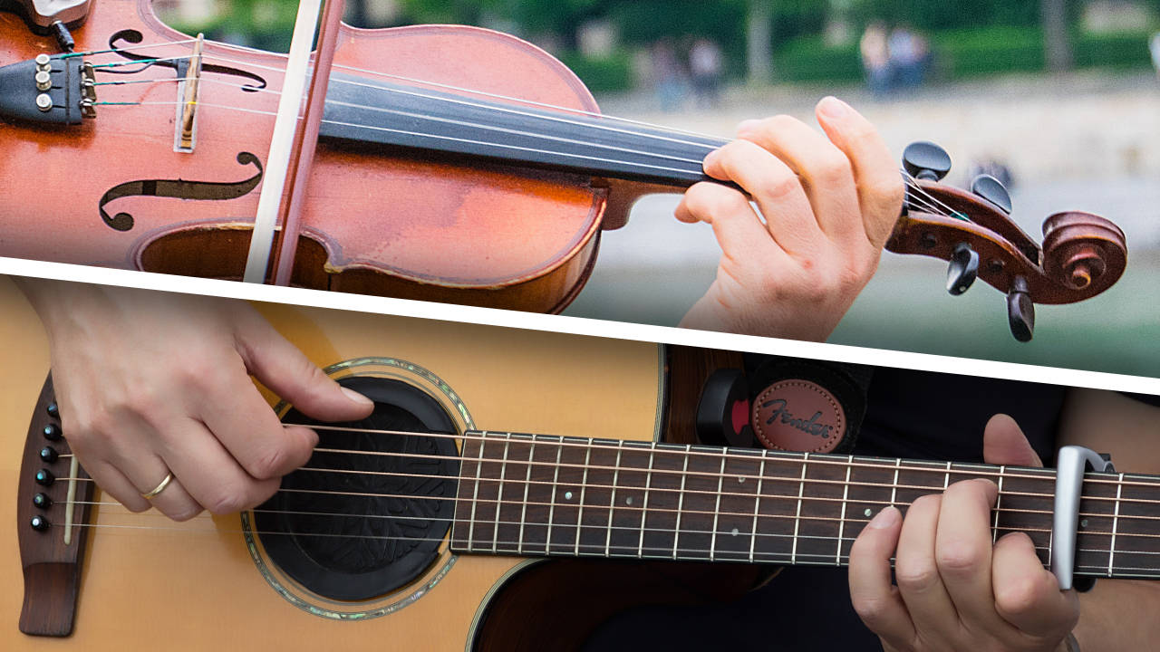 Differences between a violin and a guitar - fretboard and fingerboard