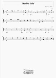 Drunken Sailor - Violin Sheet Music Tutorial