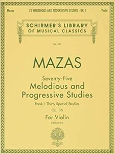 Etudes, Op. 36 by Jacques Féréol Mazas - book 1