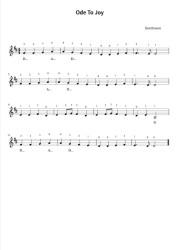 Free Violin Sheet Music - Ode to Joy - Beethoven