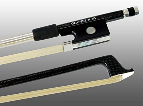 Glasser - Braided Carbon Fiber Octagonal Stick - Violin Bow 4/4