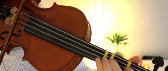 How To Play Angels We Have Heard On High - Violin Lesson