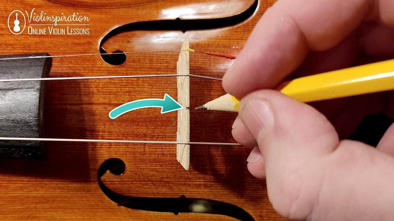 How to Change Violin Strings - Lubricate the Bridge