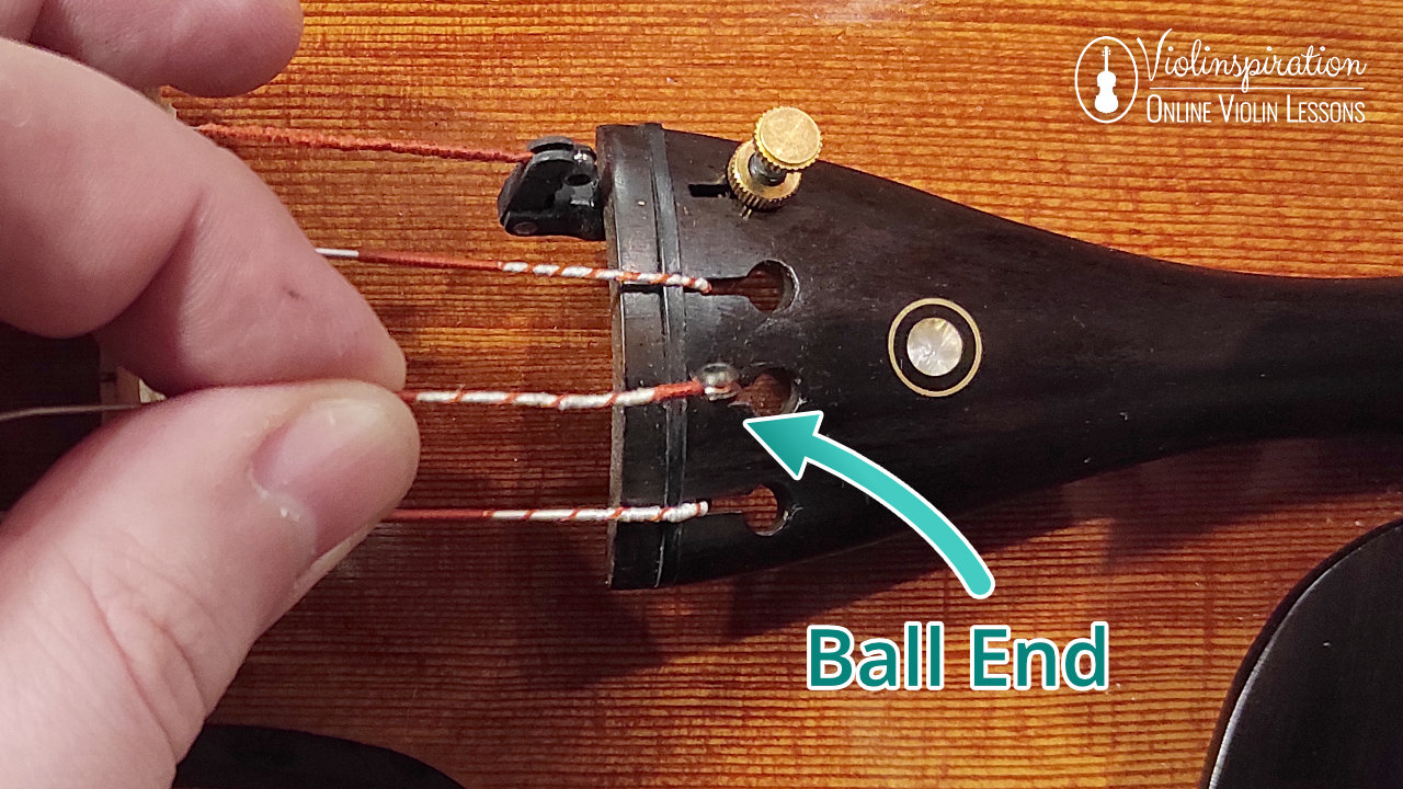 How to Change Violin Strings - Remove the Old String - Ball