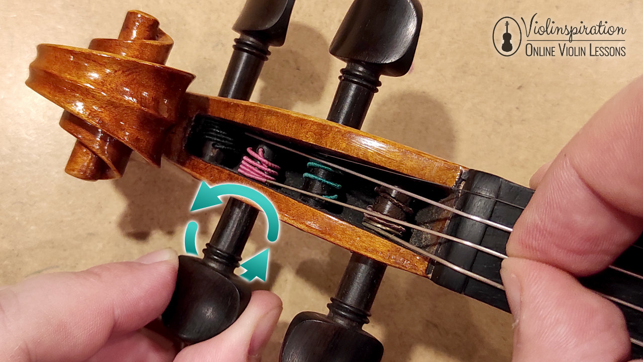 How to Change Violin Strings - Winding the String Close to the Wall