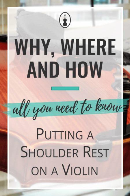how to put shoulder rest on violin
