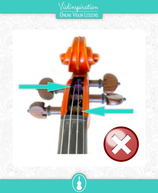 How to Tune The Violin with The Pegs - Winding of the Strings Not in Contact with the Pegbox