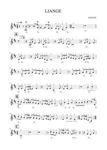 How to play Liange – Anoice, Free Violin Sheet Music [PDF]