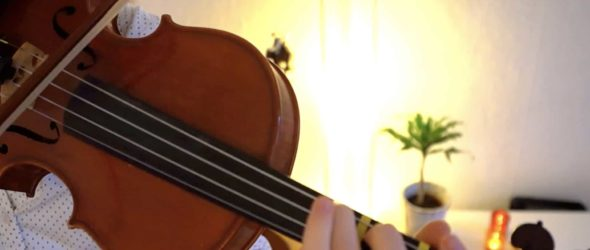 How to play O Come Emmanuel - Violin Lesson