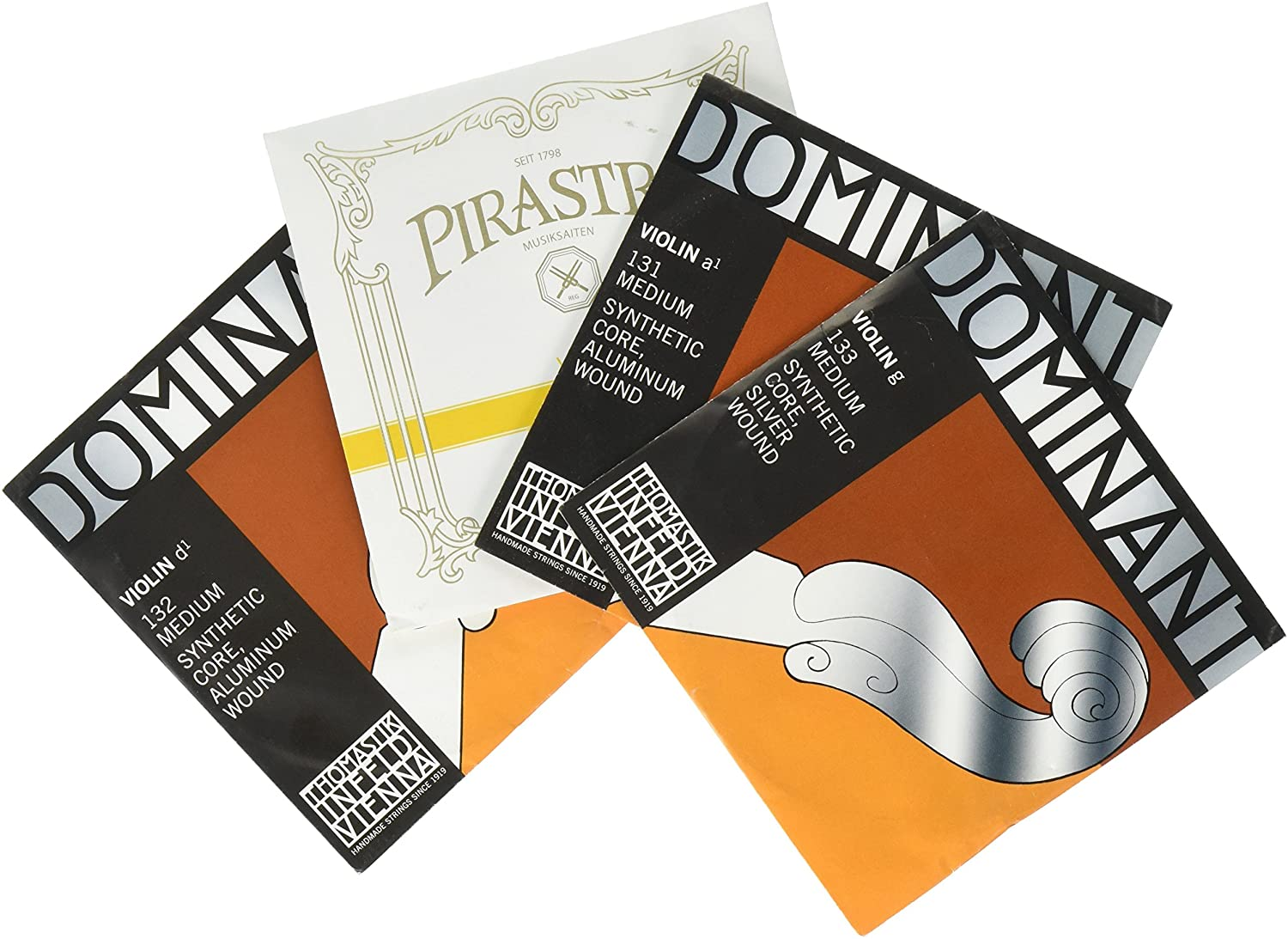 JSI Special 4/4 Violin String Set. Gold Label Ball-End E & Dominant A, D, and G Strings