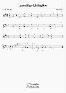 London Bridge is Falling Down - Violin Sheet Music Tutorial