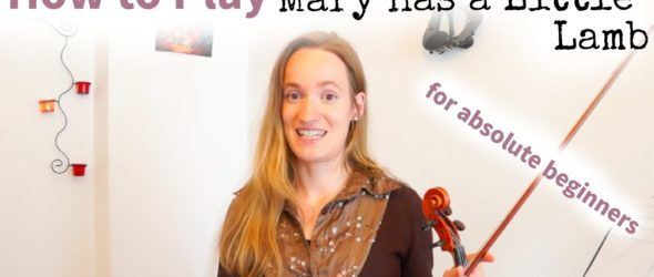 Mary had a Little Lamb (how to play) - Violin Lesson