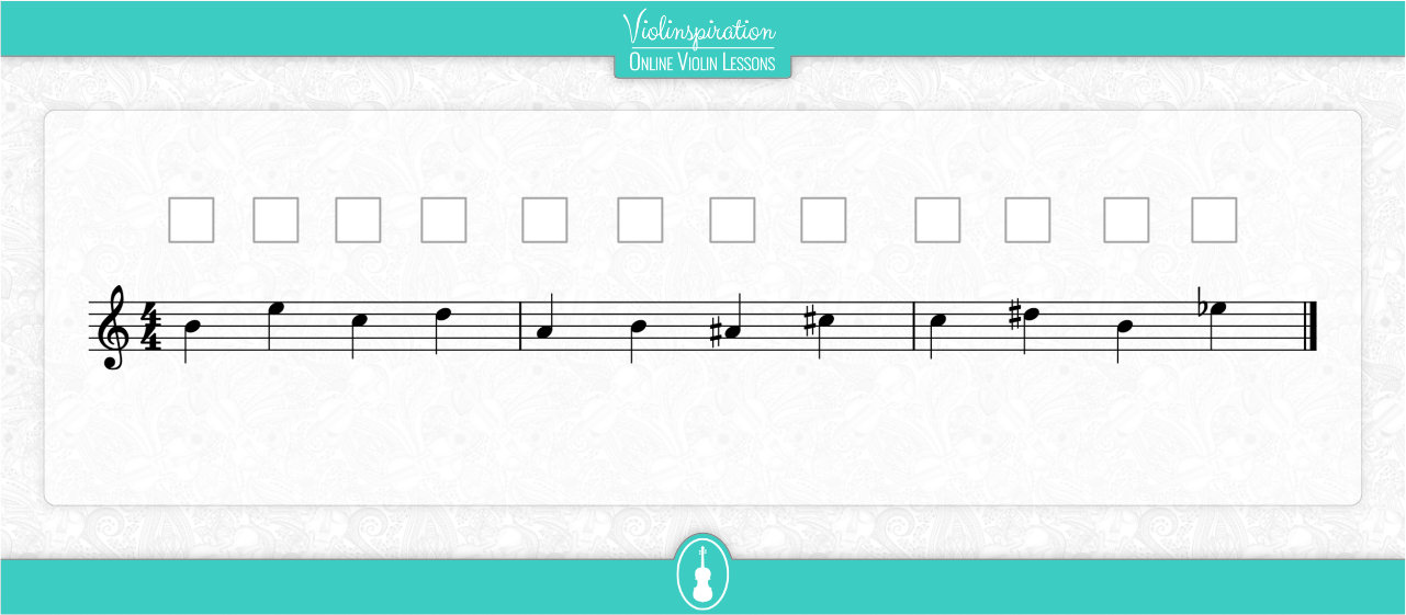 Notes on the A String - Fingering Exercise