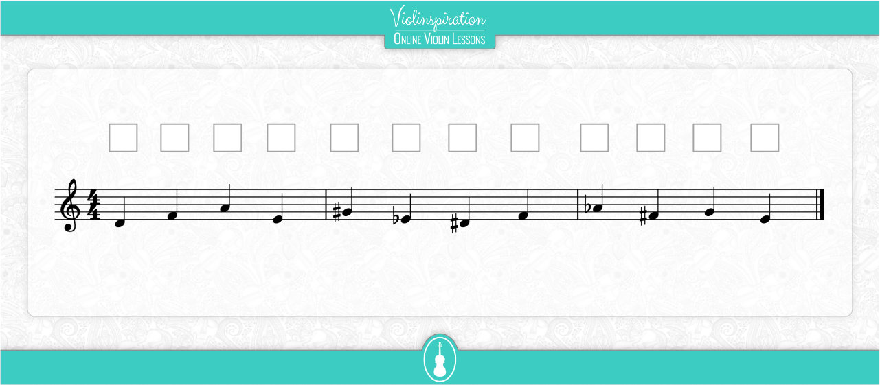 Notes on the D String - Fingering Exercise