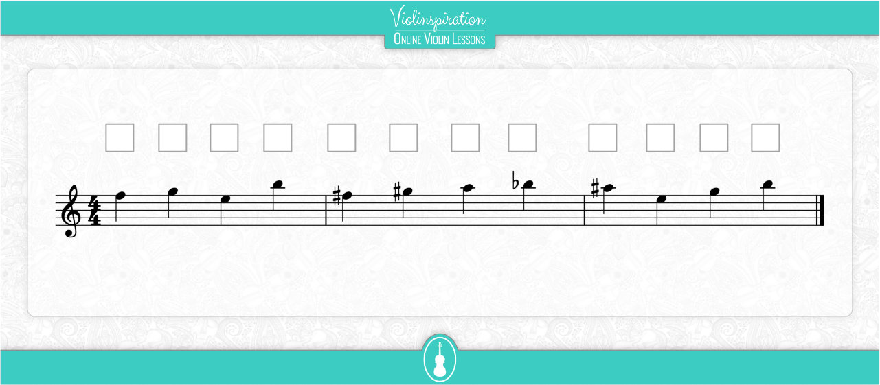 Notes on the E String - Fingering Exercise