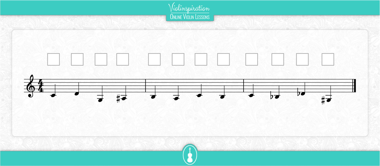 Notes on the G String - Fingering Exercise
