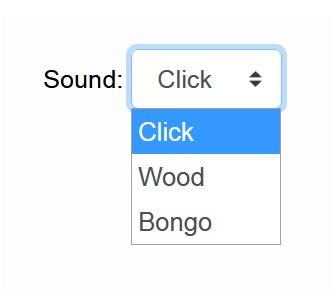 Online metronome - Sound Settings